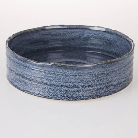 Blått keramikkfat - Stort