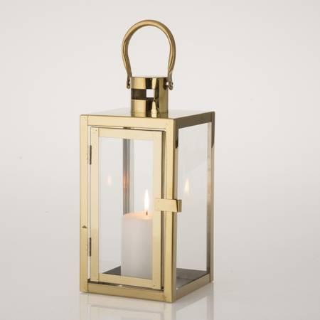 Lanterne firkantet gull